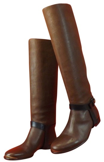 Preload https://img-static.tradesy.com/item/9645472/lanvin-brown-texture-leather-harness-belted-riding-flat-bootsbooties-size-us-9-regular-m-b-0-1-540-540.jpg