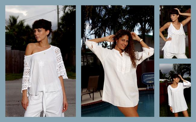 Lirome Summer Casual Casualvacation Top White