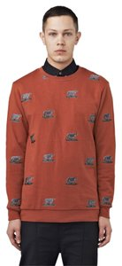 i love ugly Mens Brown Bear Crew Neck Sweater