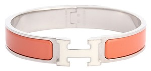 Hermès Narrow Mango and White Clic H