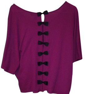Jessica Simpson Open Back Bows Bow Top Purple