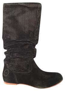 UGG Australia Suede Knee High Black Boots