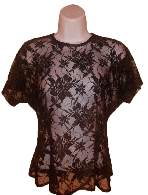 Preload https://item2.tradesy.com/images/abs-by-allen-schwartz-brown-lace-blouse-size-4-s-9646231-0-1.jpg?width=400&height=650