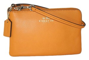 Coach Phone Case Wallet 53429 Wristlet in Orange Peel