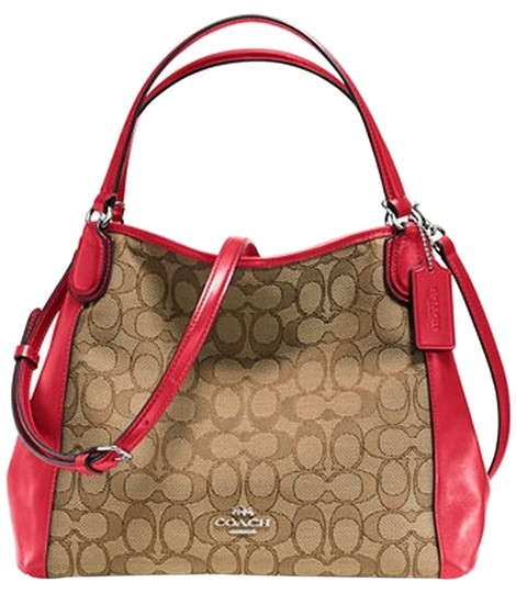Preload https://item2.tradesy.com/images/coach-new-with-khakired-jacquard-shoulder-bag-9646546-0-1.jpg?width=440&height=440