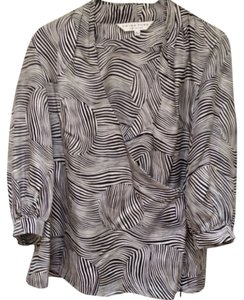 Trina Turk Top Black/White