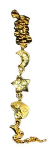 Kirks Folly Stars Moon & Hearts Gold Tone Clear Crystals Designer Signed NWT