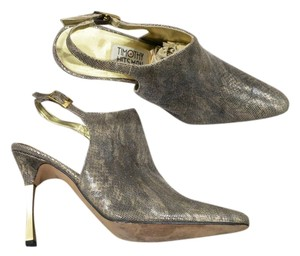 Timothy Hitsman Metal Heel Soft Kidskin Leather European Made Looks Like New On Gold Formal