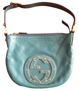 Gucci Leather Turquoise Hobo Bag