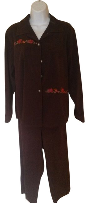 Preload https://item5.tradesy.com/images/brown-micro-pant-suit-size-14-l-9647809-0-1.jpg?width=400&height=650