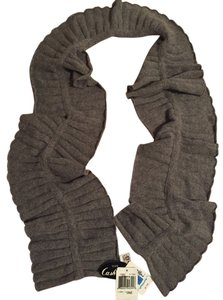 Portolano Grey cashmere sweater knit scarf from Portolano