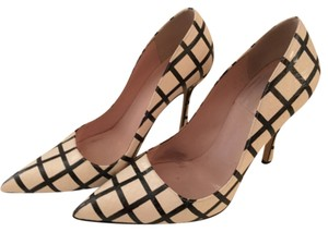 Kate Spade Checkered Snake Print Black/white Pumps