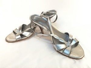 Ann Taylor Leather silver Sandals