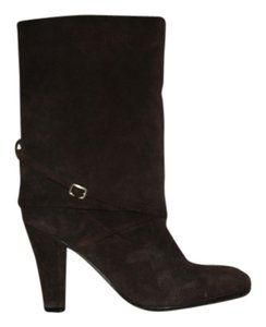Enzo Angiolini Midcalf Buckle Brown Suede Boots