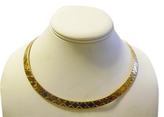 Preload https://item4.tradesy.com/images/technibond-925goldplated-18k-plated-over-sterling-silver-high-polished-textured-16-inch-omega-with-l-9648253-0-3.jpg?width=440&height=440