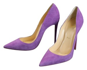 Christian Louboutin Violet Suede So Kate Purple Pumps