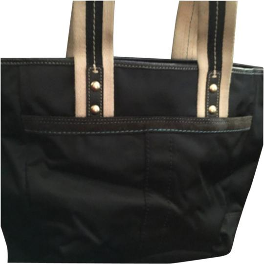 Preload https://item3.tradesy.com/images/coach-black-satin-and-cloth-tote-9648877-0-1.jpg?width=440&height=440