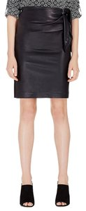Diane von Furstenberg Dvf Roxanne Leather Skirt Black