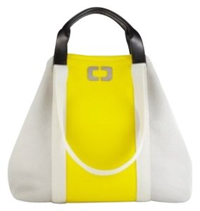 Diane von Furstenberg Dvf Beach Tote Yellow And Grey Travel Bag