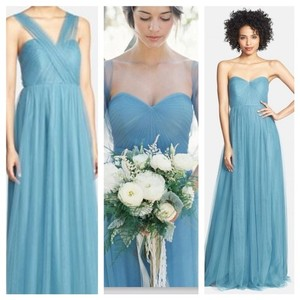 Jenny Yoo Vintage Teal Tulle Annabelle Convertible Column Formal Bridesmaid/Mob Dress Size 0 (XS)