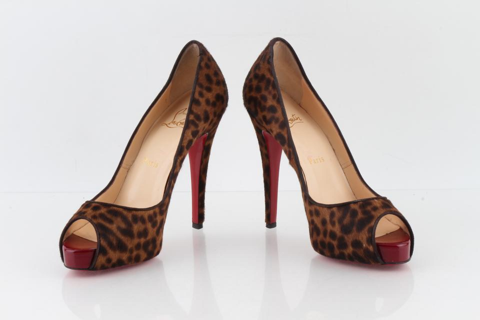 a6d98370975 Christian Louboutin Cheetah * Maryl Leopard-print Calf Hair Peep-toe -  Pumps Size US 7 Regular (M, B) 45% off retail