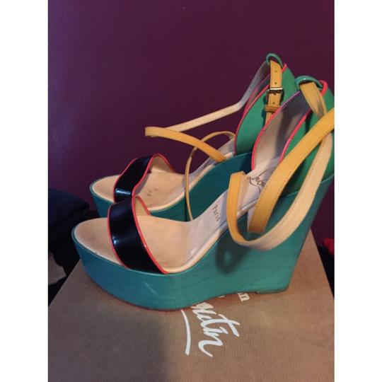 Christian Louboutin Multi-Colored Wedges