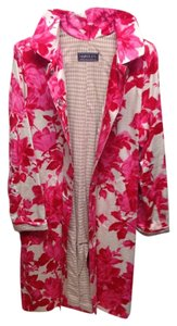 Fuchsia Pink Floral on Cream Jacket