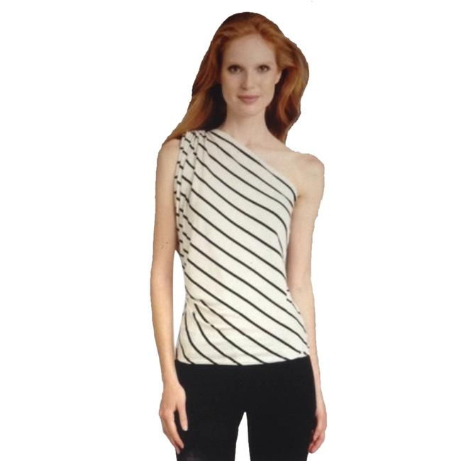 Preload https://item5.tradesy.com/images/cielo-black-and-white-draped-one-shoulder-night-out-top-size-4-s-964929-0-0.jpg?width=400&height=650
