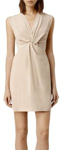 AllSaints Salma Silk Twist Dress