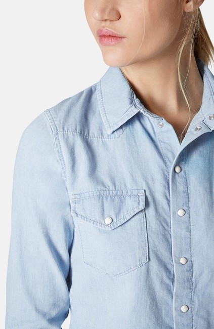Topshop Button Down Shirt Image 1