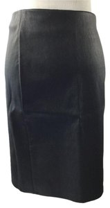 Diane von Furstenberg 'cloe' Leather Pencil Skirt BLACK