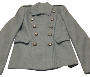 French Connection Grey with Dull Gold Buttons Jacket Size 2 (XS)