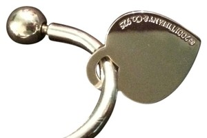 Tiffany & Co. NEW Tiffany Sterling Silver Medium Heart Tag Screwball Keyring