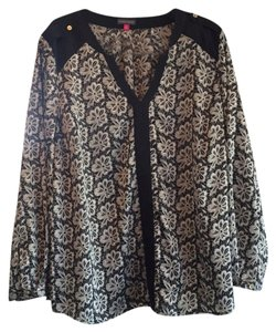 Vince Camuto Top Black, tan, floral