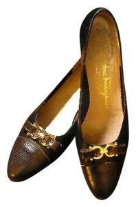 Salvatore Ferragamo Leather Black Flats