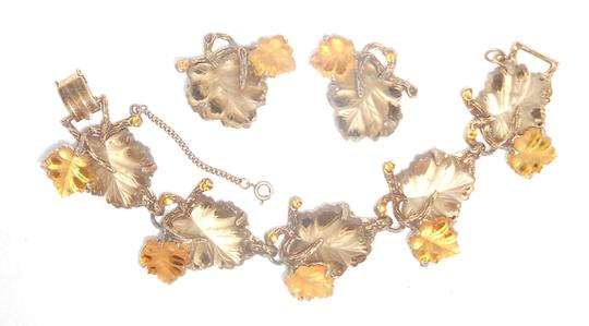 Other Vintage rhinestone bracelet and clip on earrings, Free shipping
