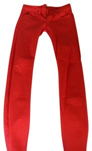 A|X Armani Exchange Skinny Pants Red