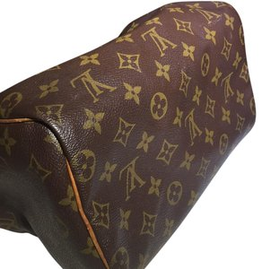 Louis Vuitton Vintage Leather Satchel in Brown Monogram