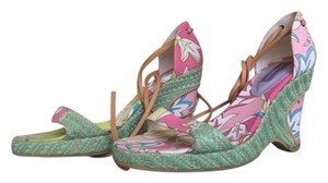 Emilio Pucci Multi Colored Wedges