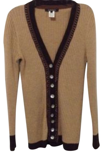 Preload https://item2.tradesy.com/images/nanette-lepore-brown-button-down-cardigan-size-4-s-9651181-0-1.jpg?width=400&height=650