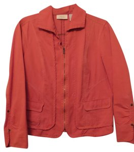 Chico's Size 2 Size Large Orange Jacket