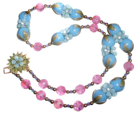Preload https://item2.tradesy.com/images/flower-garden-blues-pinks-greens-vintage-neckless-with-clasp-crystal-23-inch-necklace-9651346-0-1.jpg?width=440&height=440