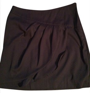 Banana Republic Ruffle Work Work Clothes Skirt Eggplant
