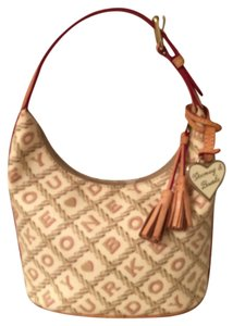 Dooney & Bourke Canvas Leather Trim Hobo Bag