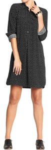 Old Navy short dress Black with White Polka Dots on Tradesy
