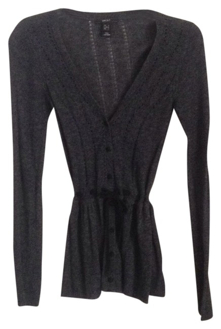 Preload https://item1.tradesy.com/images/charcoal-gray-cardigan-size-2-xs-9652045-0-1.jpg?width=400&height=650
