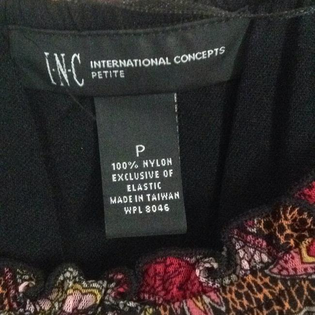 INC International Concepts Top Black pink multi
