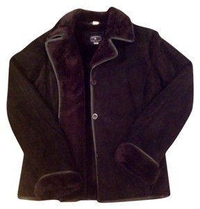 Chelsea Campbell Shearling Suede Leather Leather Jacket