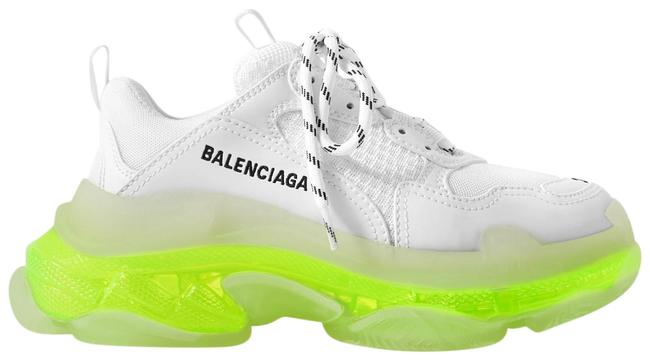 Item - White and Neon Yellow Eu35/36/37/38/39/40 Triple S Clear Sole Sneakers Size EU 37 (Approx. US 7) Regular (M, B)