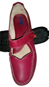 Wolky Comfortable Mary Jane Leather Upper Leather Lining Casual Red Mules